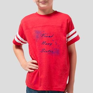 Proud Navy Sister Youth Football Shirt