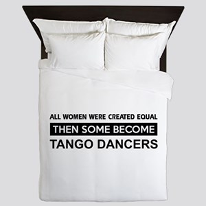 tango dance designs Queen Duvet