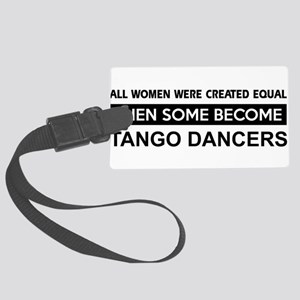 tango dance designs Large Luggage Tag