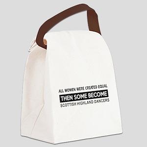 square dance designs Canvas Lunch Bag