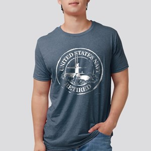 U.S. Navy Retired (Submarine) Mens Tri-blend T-Shi