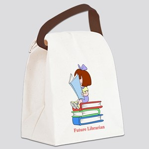 Future Librarian - Girl Canvas Lunch Bag