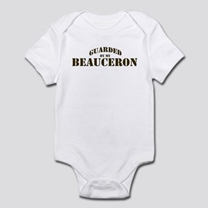 Beauceron: Guarded by Infant Bodysuit
