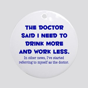 The Doctor Ornament (Round)
