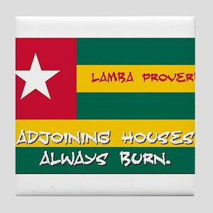 Adjoining Houses Always Burn - Lamba Proverb Tile