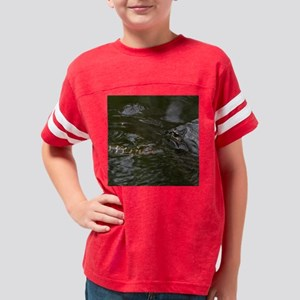 Baby Goes for a Swim Youth Football Shirt