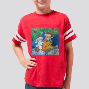 christmastigerbunny3.5by3.5 Youth Football Shirt