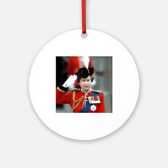 HM Queen Elizabeth II Trooping Ornament (Round)