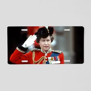 HM Queen Elizabeth II Trooping Aluminum License Pl