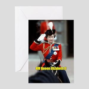 HM Queen Elizabeth II Trooping Greeting Cards