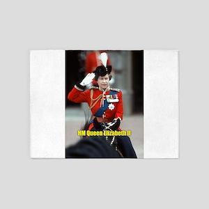 HM Queen Elizabeth II Trooping 5'x7'Area Rug