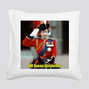 HM Queen Elizabeth II Trooping Square Canvas Pillo
