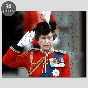 HM Queen Elizabeth II Trooping Puzzle