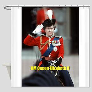 HM Queen Elizabeth II Trooping Shower Curtain