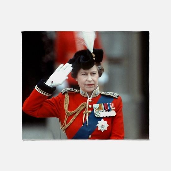 HM Queen Elizabeth II Trooping Throw Blanket