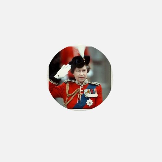 HM Queen Elizabeth II Trooping Mini Button