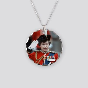 HM Queen Elizabeth II Trooping Necklace Circle Cha