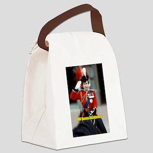 HM Queen Elizabeth II Trooping Canvas Lunch Bag