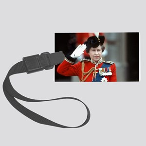 HM Queen Elizabeth II Trooping Large Luggage Tag