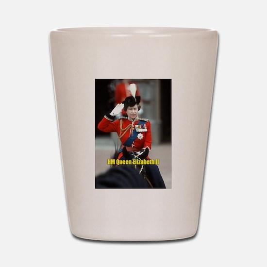 HM Queen Elizabeth II Trooping Shot Glass