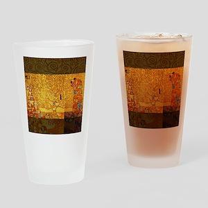 Gustav Klimt Tree of Life Art Nouve Drinking Glass