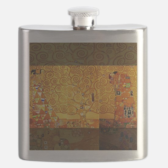 Gustav Klimt Tree of Life Art Nouveau Flask
