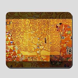 Gustav Klimt Tree of Life Art Nouveau Mousepad