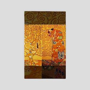 Gustav Klimt Tree of Life Art Nouveau Area Rug