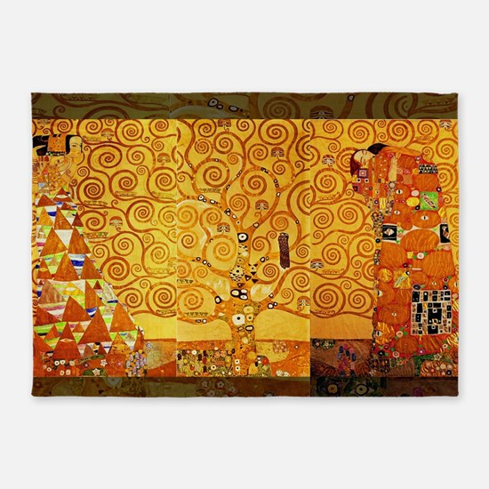 Gustav Klimt Tree of Life Art Nouve 5'x7'Area Rug