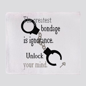 Unlock Your Mind Throw Blanket