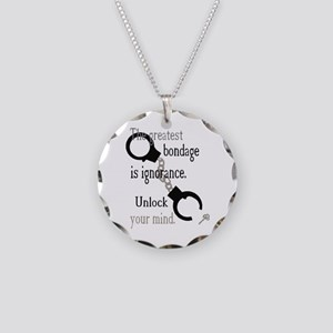 Unlock Your Mind Necklace Circle Charm