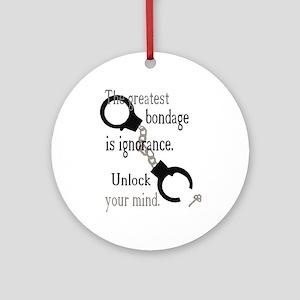 Unlock Your Mind Ornament (Round)