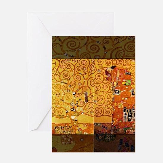 Gustav Klimt Tree of Life Art Nouve Greeting Cards