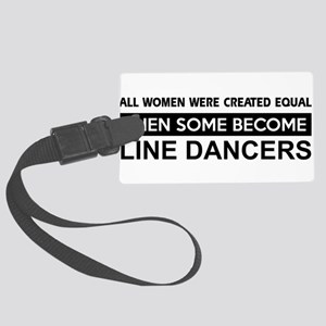 line dance designs Large Luggage Tag