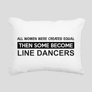 line dance designs Rectangular Canvas Pillow