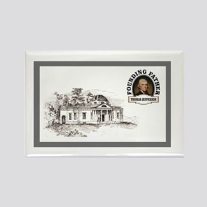 Monticello card Magnets