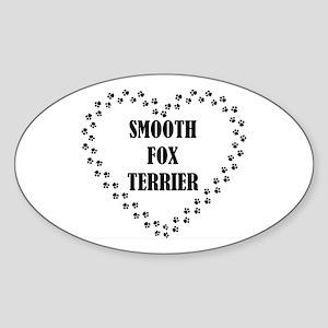 smooth fox terrier paw heart Sticker