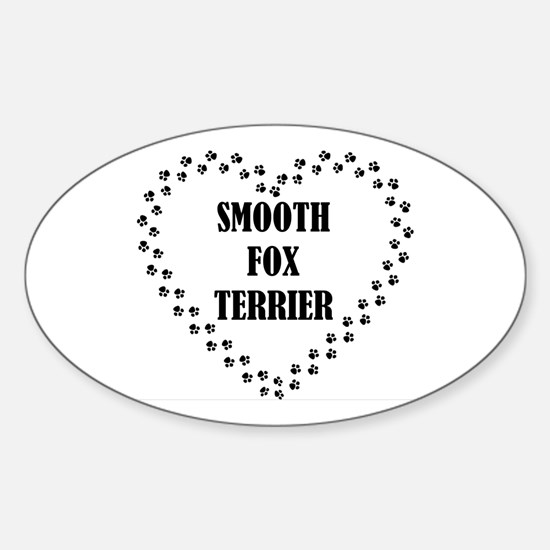 smooth fox terrier paw heart Decal
