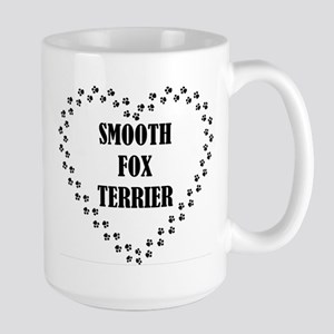 smooth fox terrier paw heart Mugs