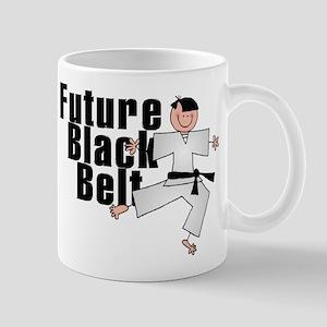 Brunette Future Black Belt Mug