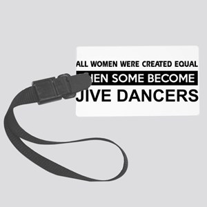 jive dance designs Large Luggage Tag