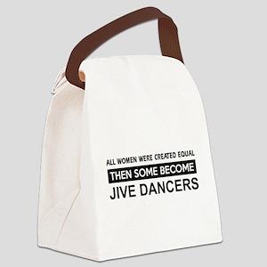 jive dance designs Canvas Lunch Bag