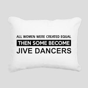 jive dance designs Rectangular Canvas Pillow