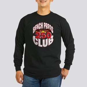 250-Pound Club! Long Sleeve Dark T-Shirt