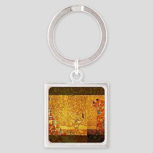 Gustav Klimt Tree of Life Art Nouveau Keychains