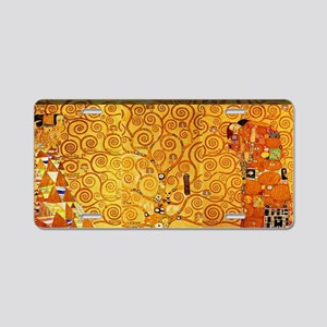 Gustav Klimt Tree of Life A Aluminum License Plate
