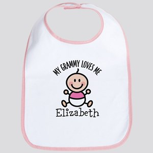 Grammy Loves Me Personalized Gift Baby Bib