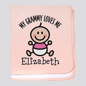 Grammy Loves Me Personalized Gift baby blanket