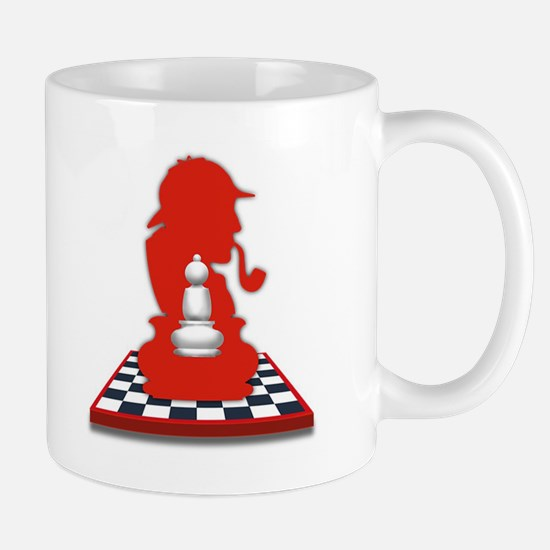 White Pawn/Black Pawn Mug