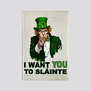 I Want You to Sláinte Retro Magnets